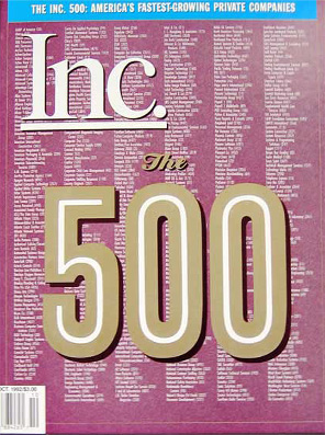 Inc. 500 magazine cover